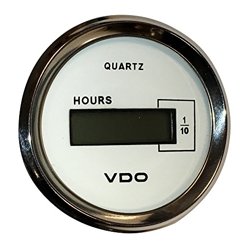 Vdo Computers - VDO Allentare White DC Hourmeter LCD Gauge - 52mm - 10-32V