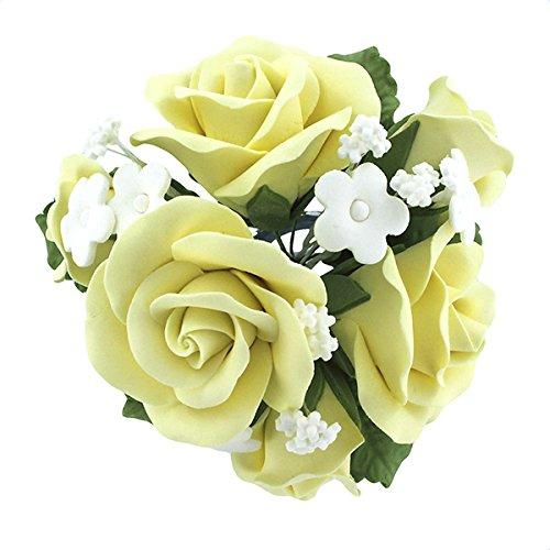 (Garden Rose Topper Bouquet Yellow by Chef Alan Tetreault)