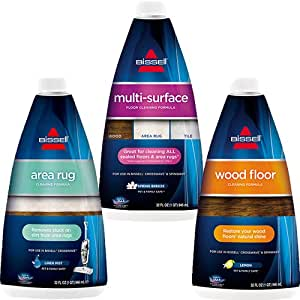 Bissell 17894 Crosswave Formula, Combo 3 Pack Multi-Surface, Wood Floor & Area Rug Formula