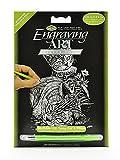"""Bulk Buy: Royal Brush Mini Silver Foil Engraving Art Kit 5""""X7"""" Tabby Cat & Kitten SILMIN-102 (6-Pack)"""