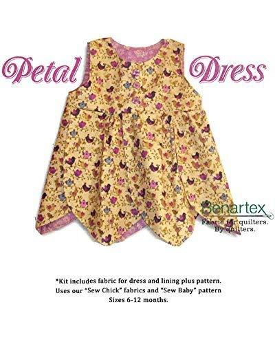 Sweet Petal Dress~A Kit to Make Yourself~ Cotton Fabric by Benartex