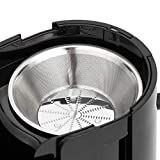 AmazonBasics Wide-Mouth, 2-Speed Centrifugal Juicer with Juice Jug and Pulp Container, Black