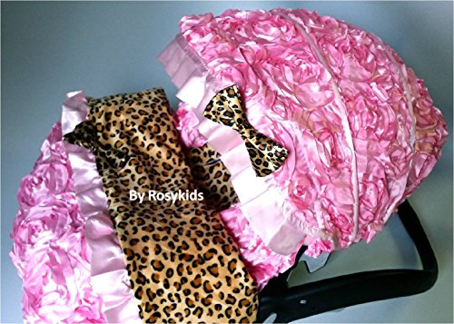 Infant Carseat Canopy Cover Blanket 4 Pc Whole Caboodle Baby Car Seat Cover Kit 3D Rosette Damask Fabric