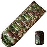 Temporada de dormir olayer, diseño de camuflaje, 3 sobre de relleno de algodón con capucha del Ejército de…