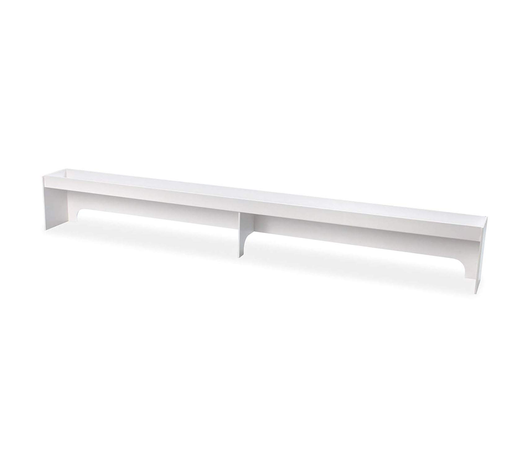 Premium Polyethylene Fume Hood Shelf 60'' Width x 8'' Height x 5'' Depth 5' White Storage