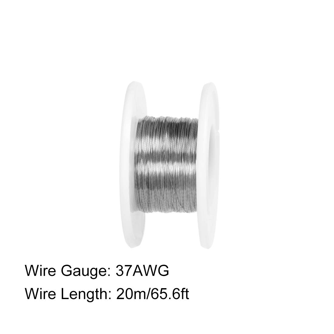 uxcell 0.12mm 37AWG Heating Resistor Wire Nichrome Resistance Wires for Heating Elements 65.6ft