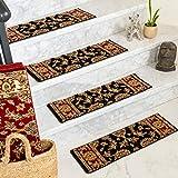 Natural Area Rugs Black Sydney DIY Pet Friendly Polypropylene Carpet Stair Treads/Rugs 9