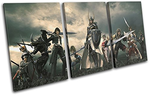 Bold Bloc Design - Final Fantasy XV XBOX ONE PS4 PC Gaming 180x90cm TREBLE Canvas Art Print Box Framed Picture Wall Hanging - Hand Made In The UK - Framed And Ready To Hang