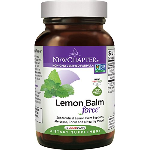 New Chapter Mood Support Supplement - Lemon Balm for Mood Support + Sleep Aid + Stress Relief + Non-GMO Ingredients - 30 ct Vegetarian ()