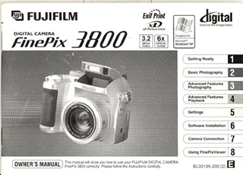 fuji finepix 3800 original owner s manual amazon com books rh amazon com Fujifilm FinePix Fujifilm Camera