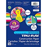 Pacon Tru-Ray Assorted Colors Smart Stack Construction Paper, 12 by 18 Inches, Pack of 120
