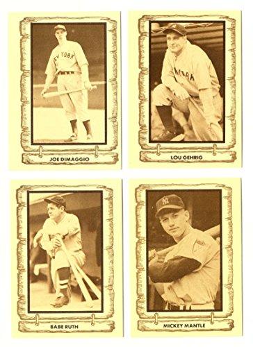 1980 Cramer Baseball Legends - NEW YORK YANKEES Team Set 1980 Baseball Legends