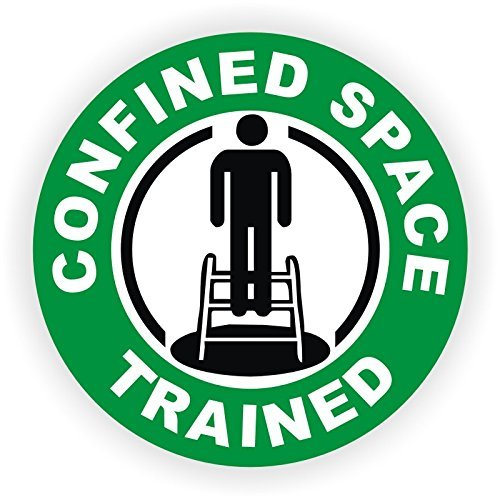 Confined Space Trained & Certified Hard Hat Sticker / Helmet Decal Label Lunch Tool Box