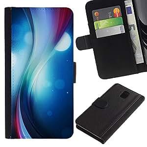KLONGSHOP // Tirón de la caja Cartera de cuero con ranuras para tarjetas - Remolino del color - Samsung Galaxy Note 3 III //