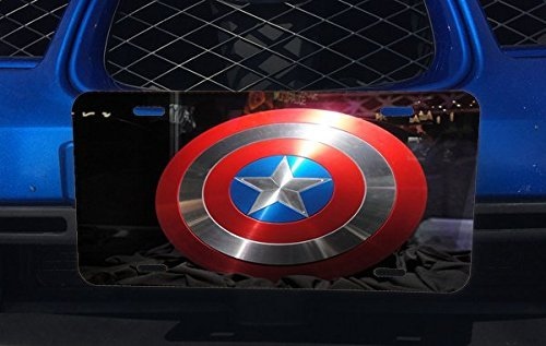 Captain America's Shield Aluminum License Plate for Car Truck Vehicles