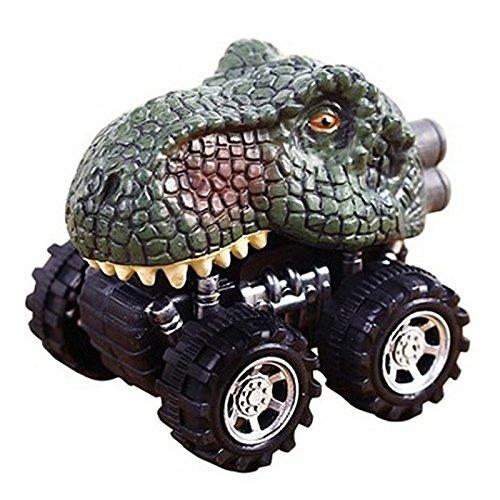 SODIAL Cadeau pour la journee des enfants Jouet du modele de dinosaure Mini Voiture Jouet L'arriere de la voiture Tyrannosaurus Rex