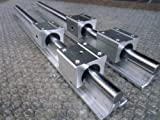 2x SBR12-1000mm 12mm Fully Supported Linear Rail + 4 SBR12UU BlockbEARING