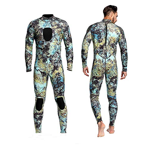 - Dyung Tec Wetsuits Mens 3MM Camo Neoprene scuba diving unisex One Piece Sport Skin Spearfishing Full Suit (XL)