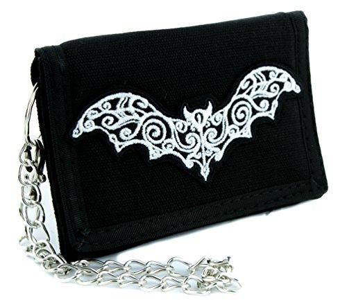 Elegant Vine Vampire Bat Tri-fold Wallet Gothic Clothing Deathrock (Halloween Vine Bats)