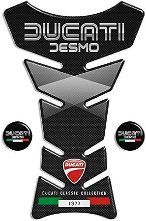 Tankpad Motorad Draht Muster Tankschutz  Ducati klassische Kollektion Ducati Desmo Polymer 3D