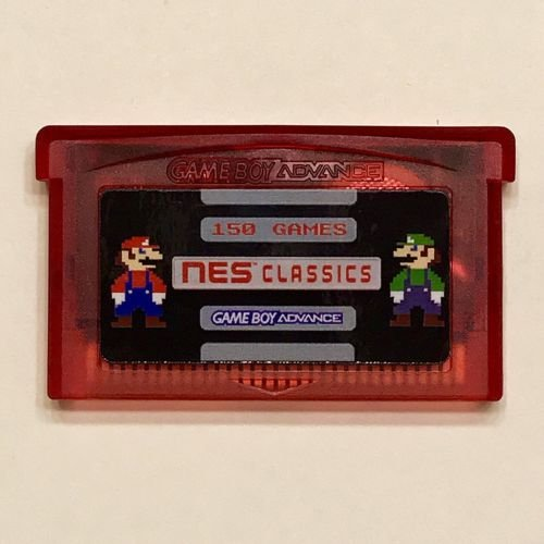 The NES Classics Collection for GBA features 150 of the best NES games in one cartridge. Includes all the Mario, Zelda, Castlevania, Megaman, Final Fantasy, Dragon Warrior, Ninja Gaiden, and Double Dragon series games. See images for the comp...