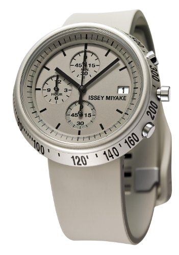 Issey Miyake Trapezoid R Chronograph White Dial White Rubber Mens Watch SILAZ005