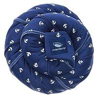manduca Sling Limited Edition 2018 > BlueAnchors < Elastisches Tragetuch in Bio-Qualität, 3 Trage-Positionen (Bauchtrage Wickelkreuztrage Hüfttrage) für Neugeborene & Babys, blau mit weißen Ankern