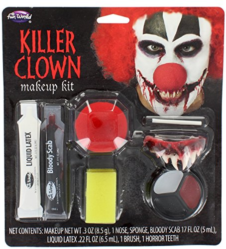 [Fun World Killer Clown Make Up Kit] (Clown Around Makeup Kit)