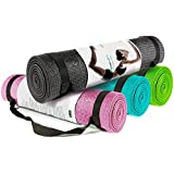 """Zen Active Non-Slip Yoga Mat ✮ Extra Thick 1/4"""" (7mm) ✮ Environmentally Friendly Exercise Mat w/ Strap ✮ Best Yoga Mat for Home and Travel ✮ Extra Long 72"""" Memory Foam Is Good For Your Knees And The Earth ✮ 100% Money Back Guarantee"""