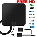 Clearview HD TV Antenna 1080P for Digital TV Indoor 65-80 Miles Amplified HDTV Antenna with Ammplifier Signal Booster (UL Adapter Included) and 16.5 Ft Coaxial Cable