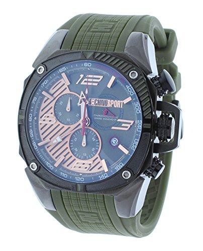Technosport TS-100-10F1 Men's Watch Formula 1 Hunter Green & Gunmetal Swiss Chronograph Date
