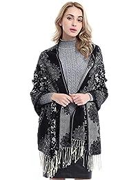 Women's Fashion Soft Plaid Blanket Scarf Stylish Cozy...
