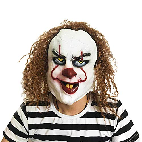Men's Smiffy Pennywise Halloween Costume Props Mask Scay Clown Mask (Picture -