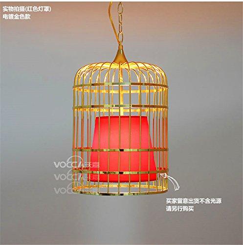 Leihongthebox Modern Contemporary Elegant Real Chandelier Pendant Ceiling Lighting fixtureIron Art Kim birdcage chandeliers, 40cm64cm red