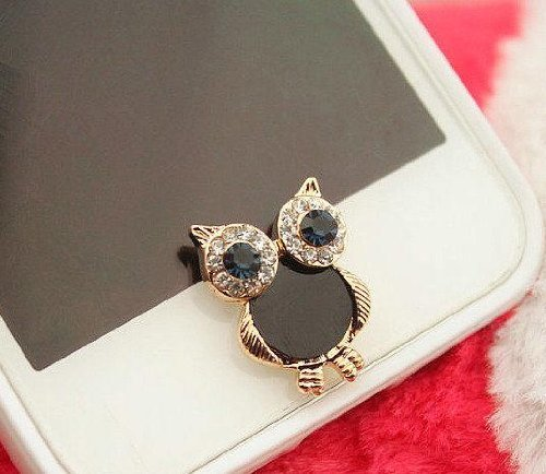 eBADA Cute Vintage Owl Charm phone Home Return Keys Buttons Sticker For iPhone 4S iPhone 5 iPod Touch iPad Repair Fix Replace Replacement (Vintage Owl Iphone 4 Case compare prices)