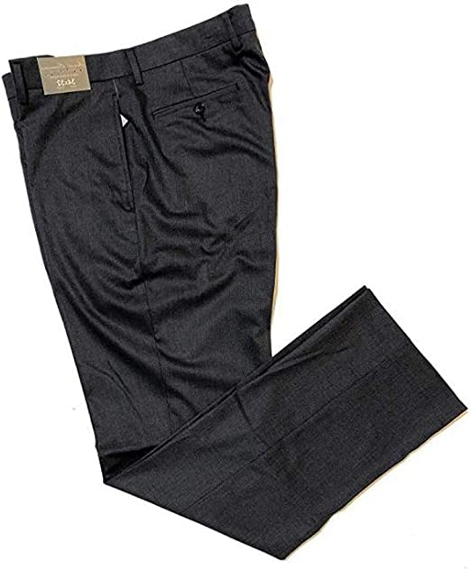 Cremieux Daniel Lenox Wool Classic Texture Fit Flat Front Pants F65PX501 Grey Heather