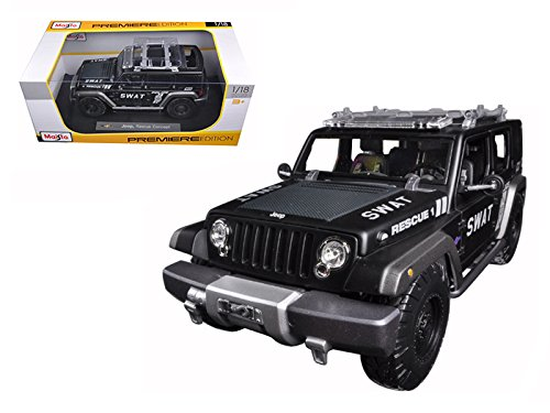 (Maisto Jeep Rescue Concept Police SWAT Version 1/18 Model)