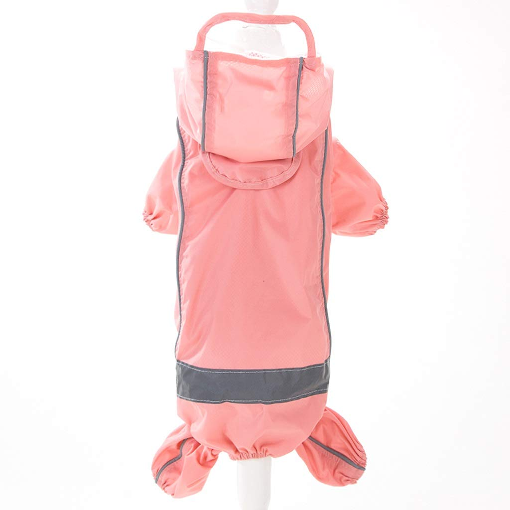 LZRZBH Pet Supplies Dog Raincoat Teddy Clothes Four Feet Waterproof Small Dog Puppies Poncho,Pink, Purple(XS-XL) (Color : Pink, Size : XS)