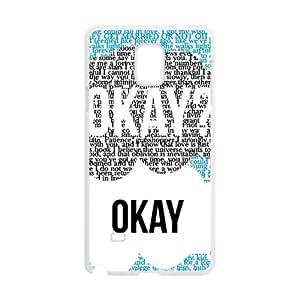 ORIGINE Okay Fashion Comstom Plastic case cover For Samsung Galaxy Note4