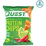 Quest Nutrition Tortilla Style Protein Chips, Chili Lime, 8 Count