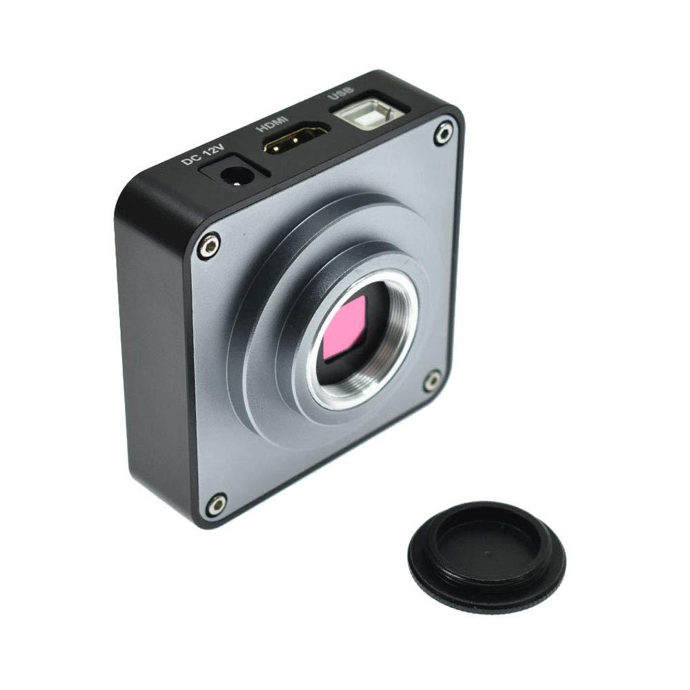 C/ámara Industrial HD 21 MP 2 K 1080P 60 fps HDMI USB Salida simult/ánea Microscopio Lupa TF Almacenamiento y 120X Zoom C-Mount Lente para reparaci/ón de Placa de tel/éfono
