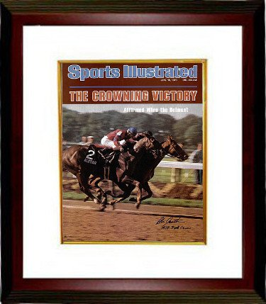 Steve Cauthen Autographed Signed Belmont Horse Racing 16X20 Photo Custom Deluxe Framed Sports Illustrated Cover June 19, 1978 w 1978 Triple - Sports Cover 1978 Illustrated