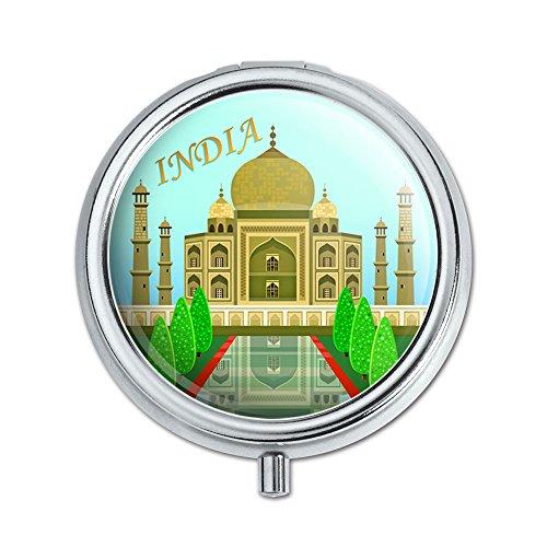 India Taj Mahal Travel Pill Case Trinket Gift Box