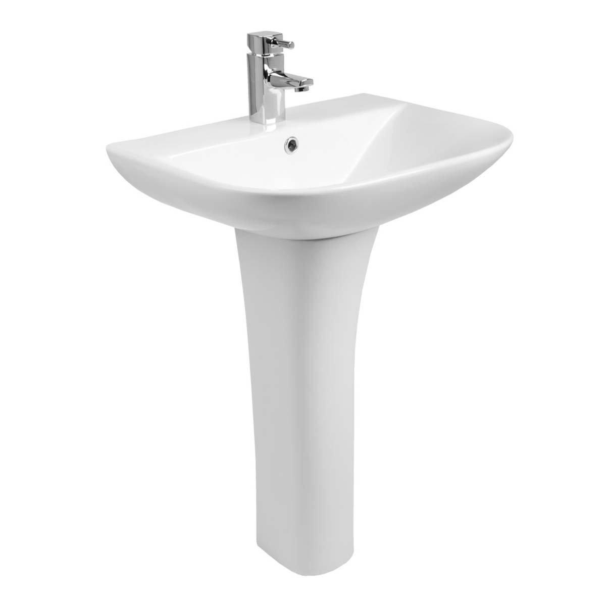 Aquariss Feel lavabo diseño curvado 560 mm Amplio lavabo con ...