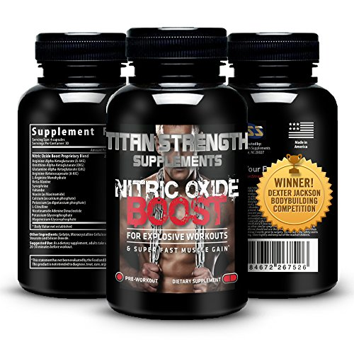 Top Nitric Oxide Booster 120 Capsules. Competition Winning. Muscle Building Nitric Oxide Supplement + L-Arginine. Gives Muscle Building Workouts + Increase Workout Endurance. Guaranteed Most Effective Muscle Building with 30 Day 'Happy Customer' GUARANTEE