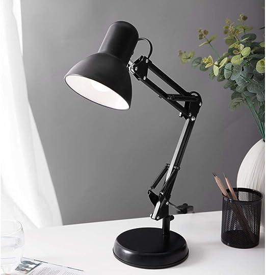 JWWOZ Lámpara De Mesa 330 ° Ajuste De Dirección Plug-in Lámpara De ...