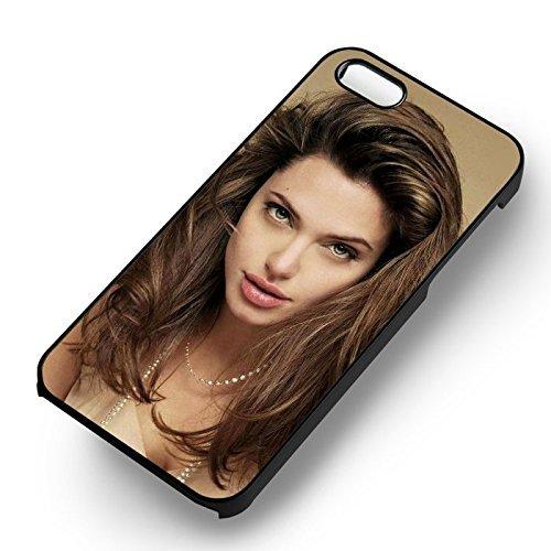 Angelina Beautiful Woman pour Coque Iphone 6 et Coque Iphone 6s Case (Noir Boîtier en plastique dur) O1Y2BR