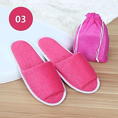 Aubess Hombres Mujeres Viaje de negocios Trip Hotel Club Portátil durable Zapatillas de tela plegable Home Guest Slipper Con bolsa de almacenamiento