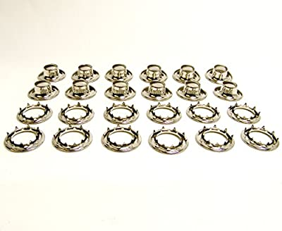 "Grommets, #5 Nickle Plated Brass, Heavy Duty Rolled Rim Spur, 5/8"" Inch Hole, 12 Pc. Set - N.W. Tarp & Canvas"