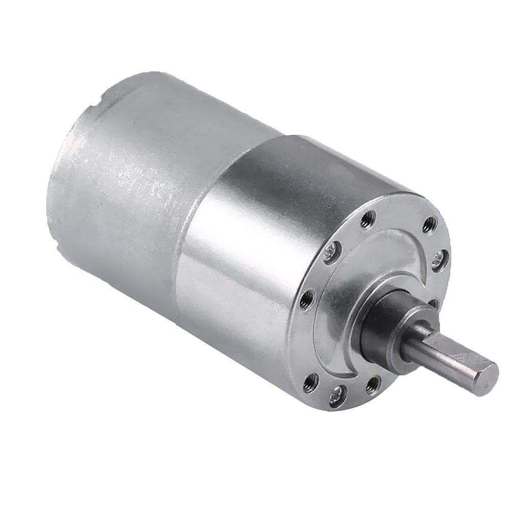 Jili Online 12-1600RPM Mini Electric Motor 12V DC Aluminum High Torque Motor Metal Gearbox - 20RPM